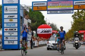 Memoria Marco Pantani 2015 - Riccione -Cesenatico 199.5 km - 19/09/2015 - Diego Ulissi (Italia) - Giovanni Visconti (Italia) - Vincenzo Nibali (Italia) - foto Roberto Bettini/BettiniPhoto©2015